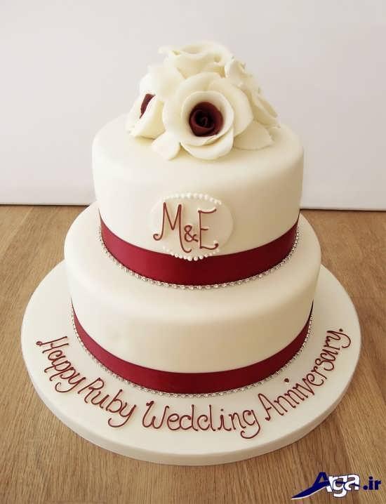 تزیین کیک سالگرد ازدواج با روش های خلاقانه