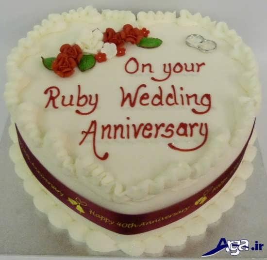 تزیین کیک سالگرد ازدواج و آشنایی