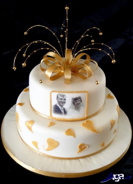 تزیین زیبا و متفاوت کیک سالگرد ازدواج