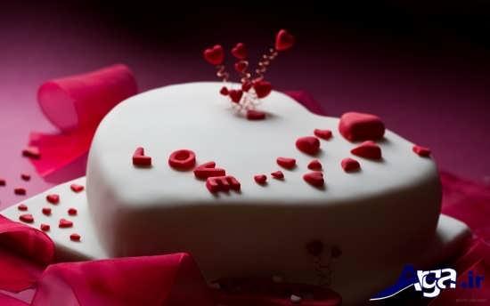 کیک سالگرد ازدواج با تزیین ساده