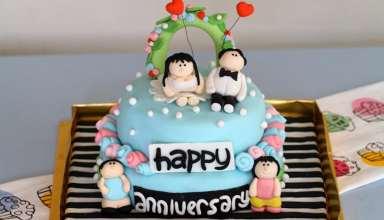 تزیین کیک سالگرد ازدواج با روش ها و ایده های خلاقانه