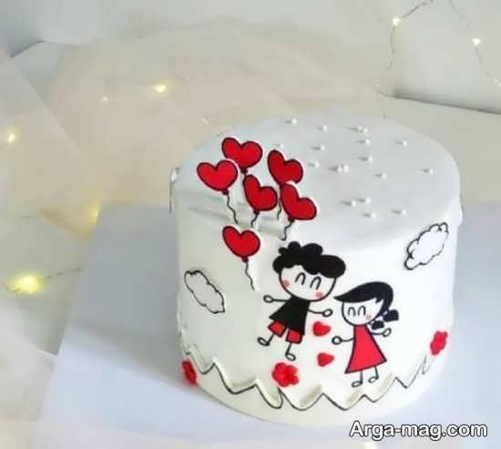 انواع تزیینات کیک سالگرد ازدواج