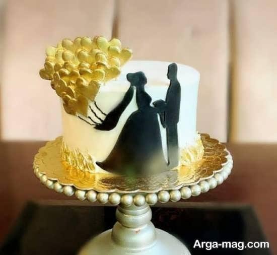تزیینات جذاب کیک سالگرد ازدواج