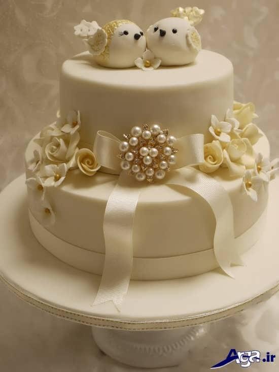 تزیین زیبا کیک سالگرد ازدواج