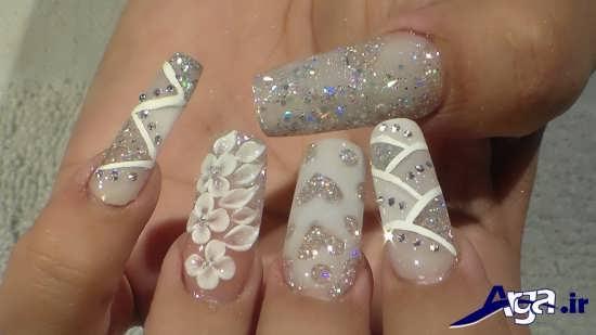 مدل دیزاین ناخن های عروس با روش های جذاب