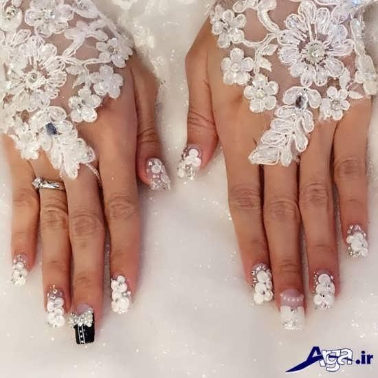 طراحی زیبا ناخن عروس