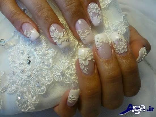 طراحی ناخن عروس با طرح های زیبا و شیک
