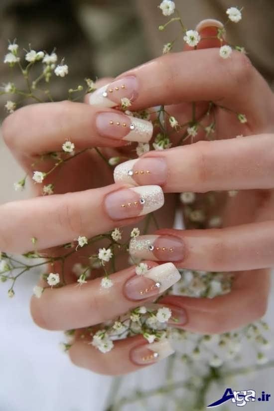 دیزاین زیبا و شیک ناخن عروس