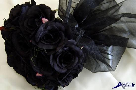 دسته گل های رز سیاه عاشقانه