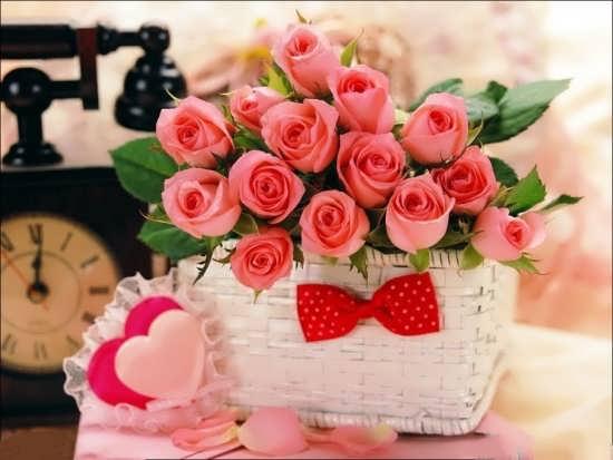 تصاویر سبد گل زیبا و رمانتیک