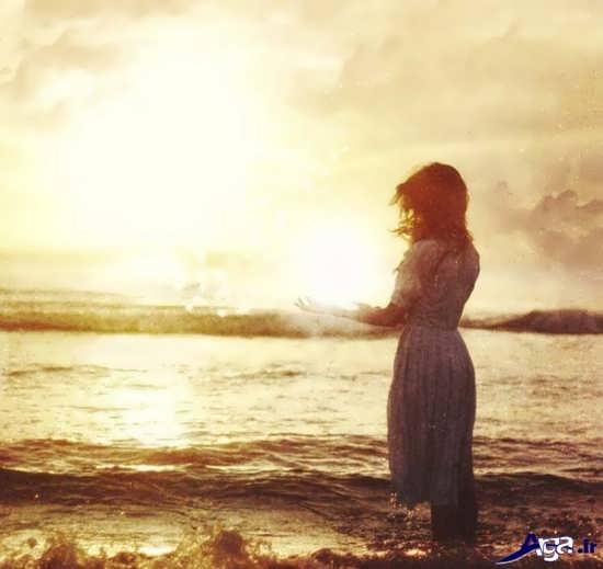 عکس تنهایی دخترانه زیبا