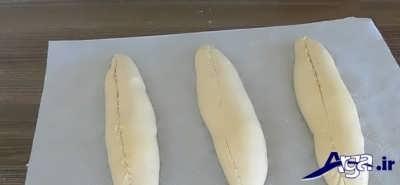 مراحل تهیه نان باگت فر