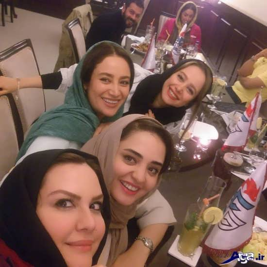 سلفی نرگس محمدی و بهاره افشاری