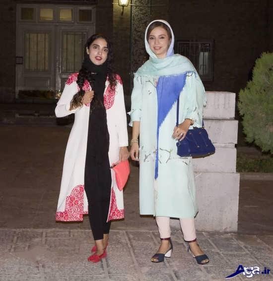 عکس شبنم قلی خانی در کنار الهه حصاری