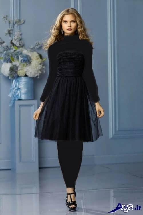 مدل لباس مجلسی با طرح کوتاه و زیبا