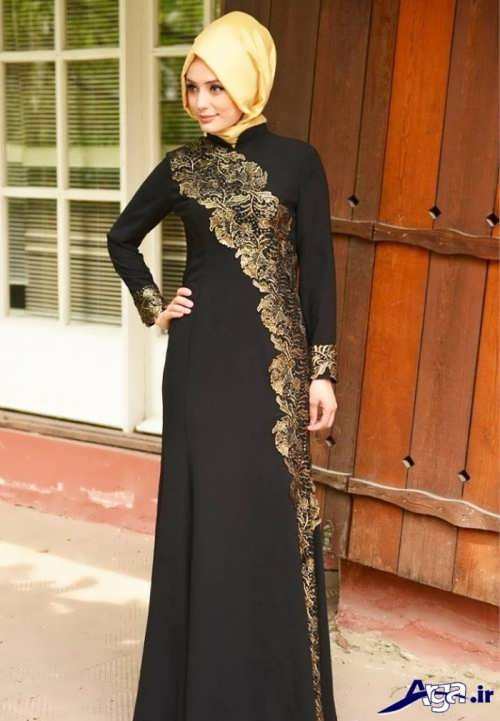 لباس مجلسی ایرانی طرح دار