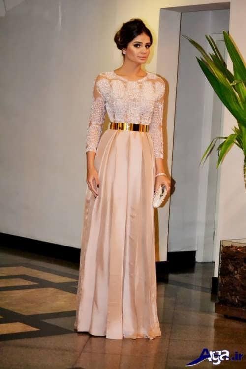 لباس مجلسی ایرانی با طرح بلند