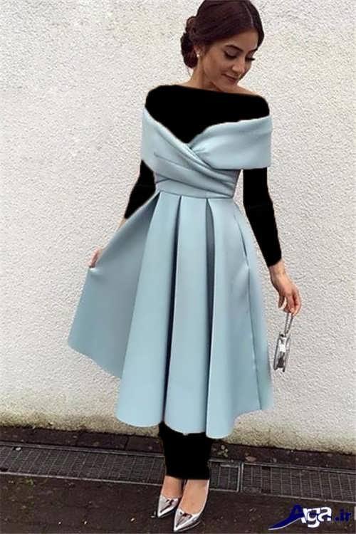 مدل لباس مجلسی ایرانی با طرح کوتاه