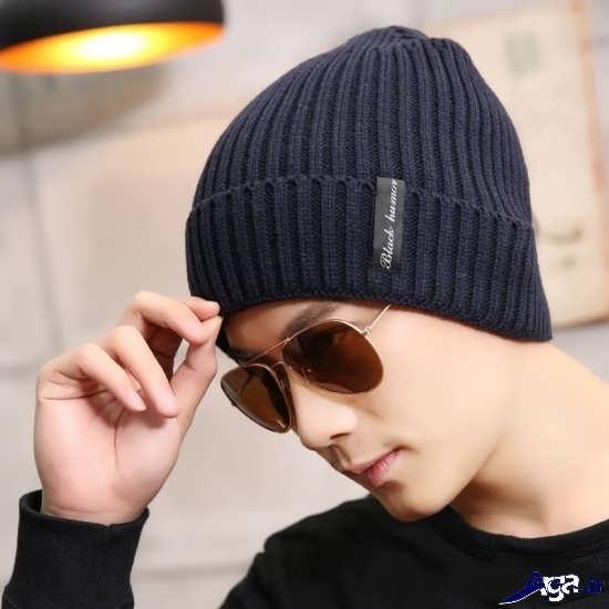 مدل کلاه بافتنی مردانه بسیار زیبا
