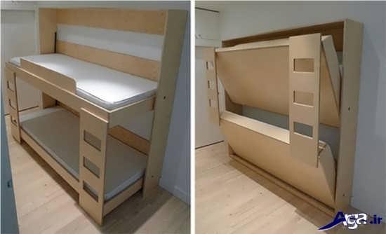 انواع تخت خواب های زیبا و جذاب تاشو یک نفره