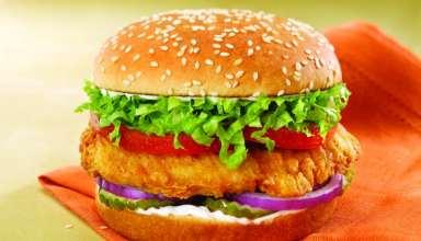 طرز تهیه همبرگر مرغ بسیار لذیذ