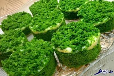 طرز تهیه کیک اسفناج خوشمزه