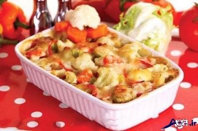 طرز تهیه سوفله سبزیجات خوشمزه