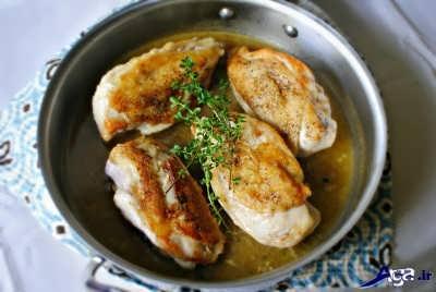 سرخ کردن سینه مرغ