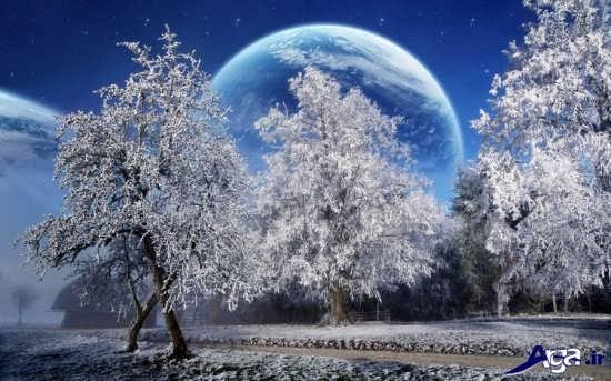 تصاویر زیبای برفی