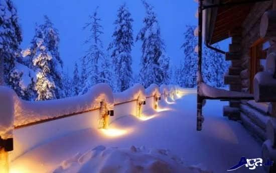 عکس مناظر زیبای برفی