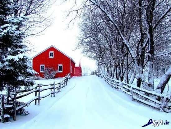 مناظر بسیار زیبای برفی