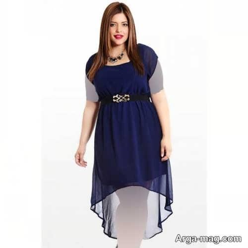 مدل لباس مجلسی کوتاه برای افراد چاق