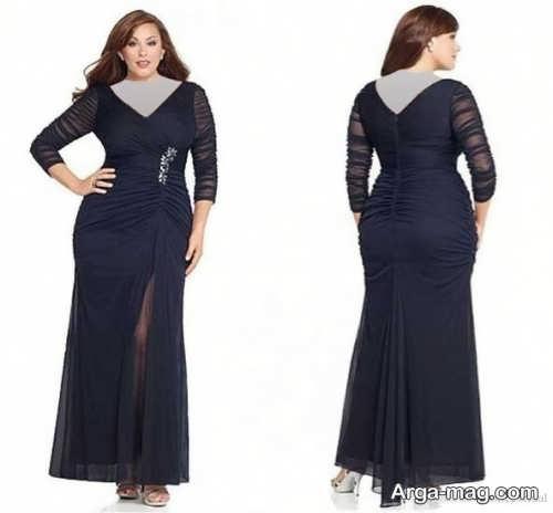 مدل زیبای لباس مجلسی برای بانوان چاق