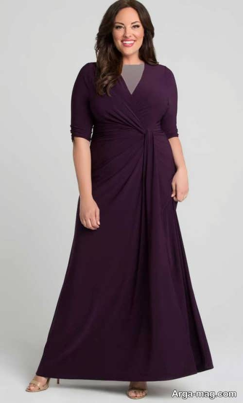 مدلی از لباس مجلسی برای افراد چاق