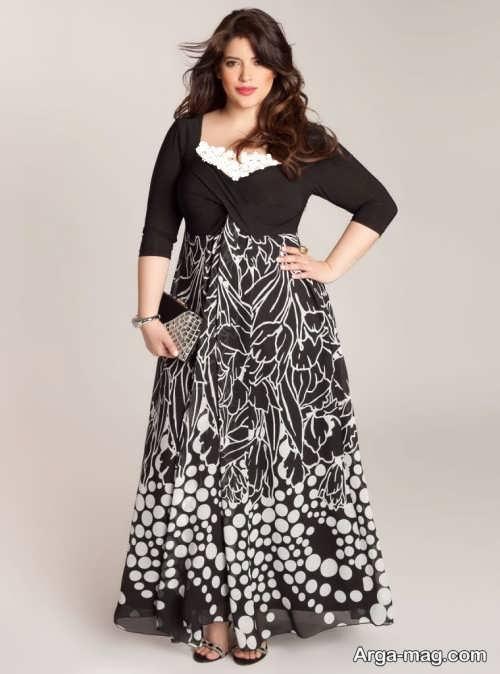 مدل لباس مجلسی برای چاق ها