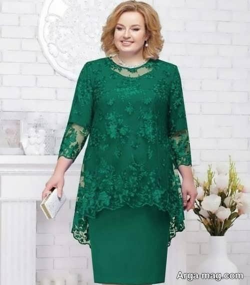 مدل لباس مجلسی شیک برای افراد چاق