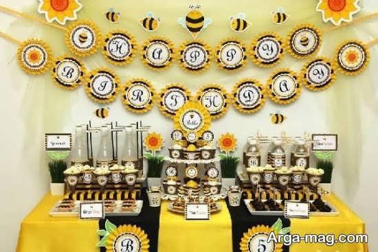 تزیینات شیک تولد زنبوری