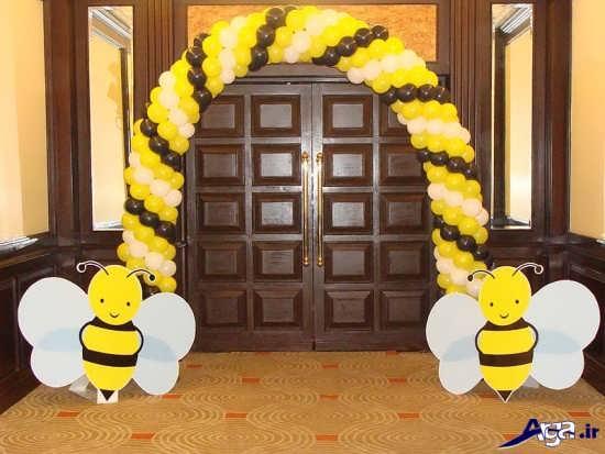 بادکنک آرایی با تم زنبور
