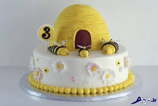کیک تولد زنبوری زیبا