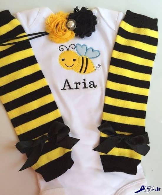 مدل لباس با تم زنبوری