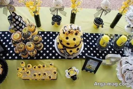 مدل تزیین تولد زنبوری