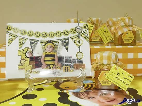 تزینات جشن تولد با تم زنبوری