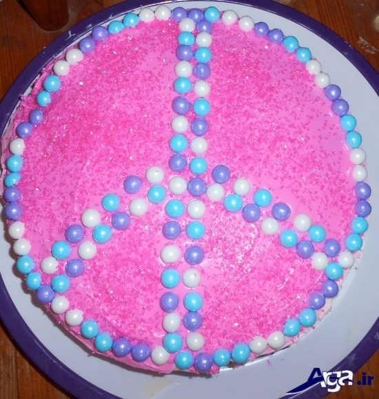 تزیین ساده کیک تولد