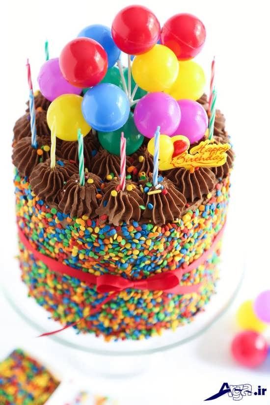 تزیین زیبا و شیک کیک تولد
