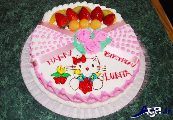 تزیین کیک با تم دخترانه