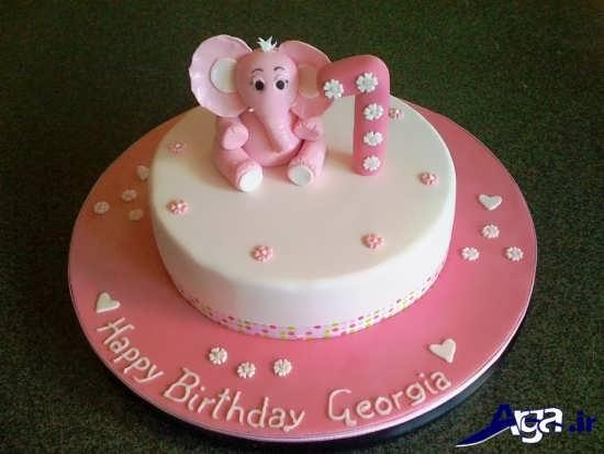 مدل کیک تولد دخترانه با تزیین زیبا و شیک