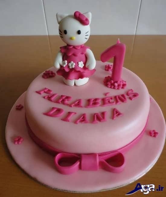 تزیین زیبا کیک تولد با تم دخترانه