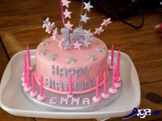 تزیین کردن کیک با خمیر فوندانت و تم دخترانه