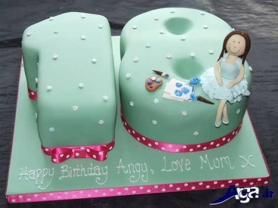 مدل کیک تولد دخترانه با تزیین زیبا