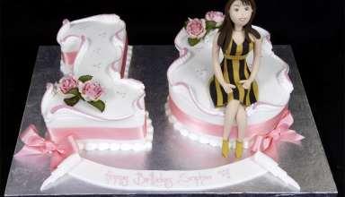 مدل کیک تولد دخترانه با تزیینات زیبا و جالب